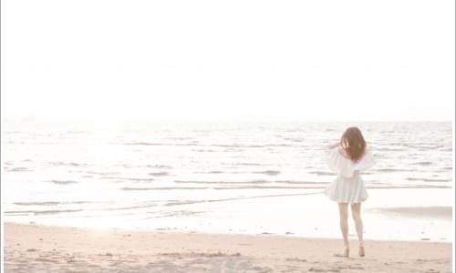 海、女性、夏
