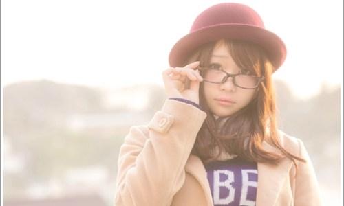 女性、眼鏡、秋、冬