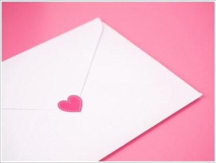 手紙、ハート、恋愛