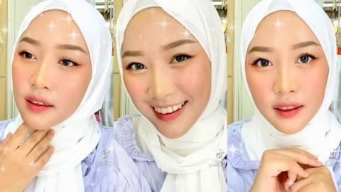 Mirip Moon Ga Young, Viral Selebgram Hijab Tiru Makeup ala Im Ju Kyung di TikTok (1)