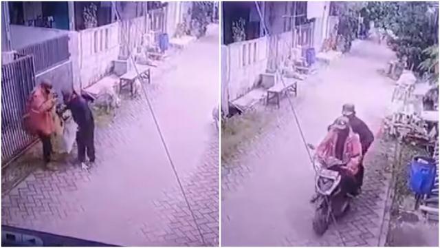 Viral Aksi Pencurian Kambing Terekam CCTV