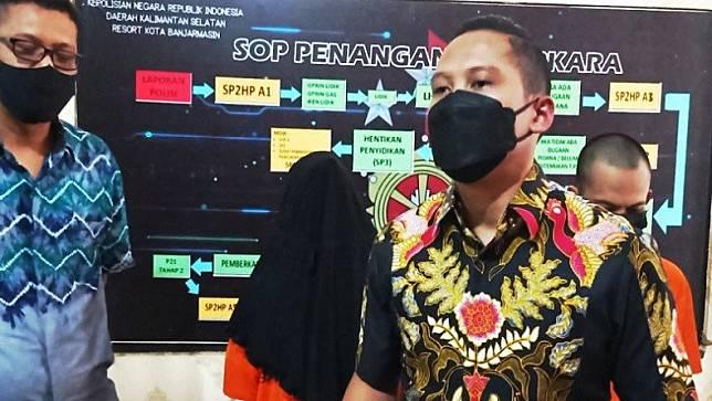 Polisi menangkap sindikat curanmor di Banjarmasin. (Foto: Antara).