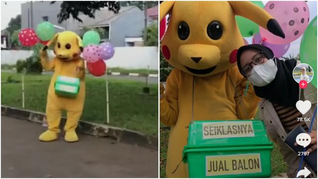 Jualan Balon dengan Bayaran Seikhlasnya, Badut Ini Bikin Netizen Terharu