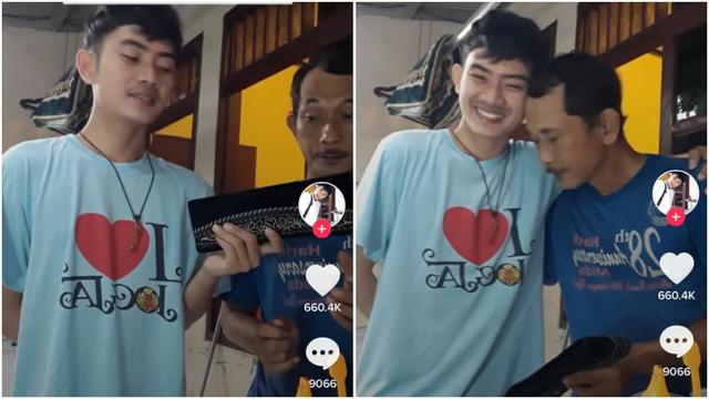 Hanya Bisa Beri Ayah Kado Sebuah Peci, Pemuda Ini Bikin Netizen Terharu