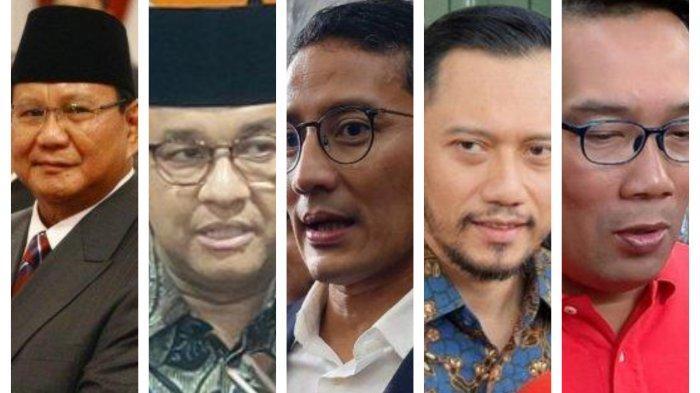 Ini Lima Besar Elektabilitas Capres Versi Survei Median - Tribunnews.com  Mobile