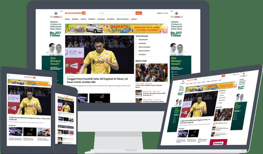 Module Homepage bisa digunakan sebagai kategori headline dan kategorinya yang di fokuskan.
