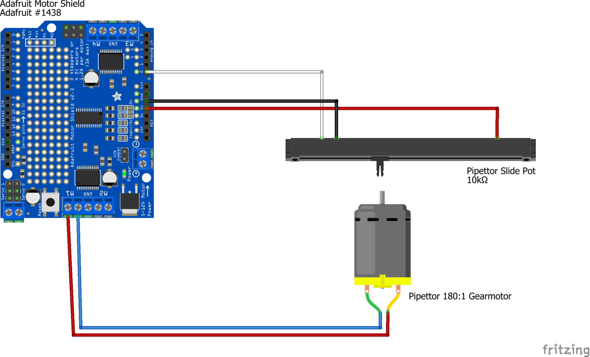 hight resolution of potentiometer connections