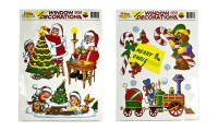 Christmas Window Cling Decorations, 10pc Set with Six Re ...