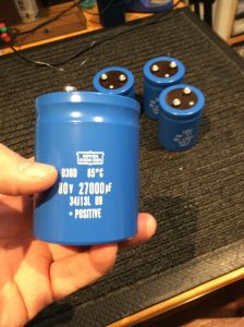 Pioneer SX-1250 Replacement Power Supply Capacitors