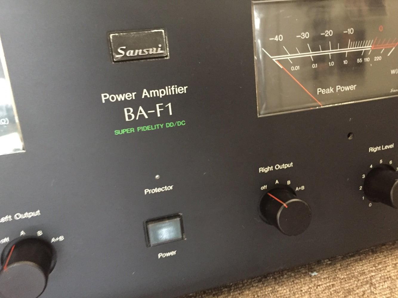 Sansui BA-F1 Power Amplifier Restoration Update