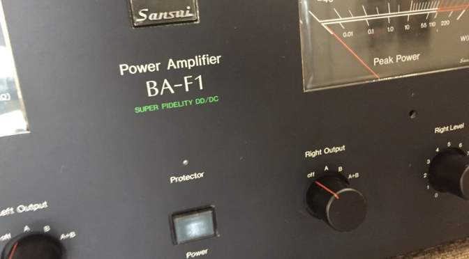 Sansui BA-F1 Power Amplifier Restoration Update
