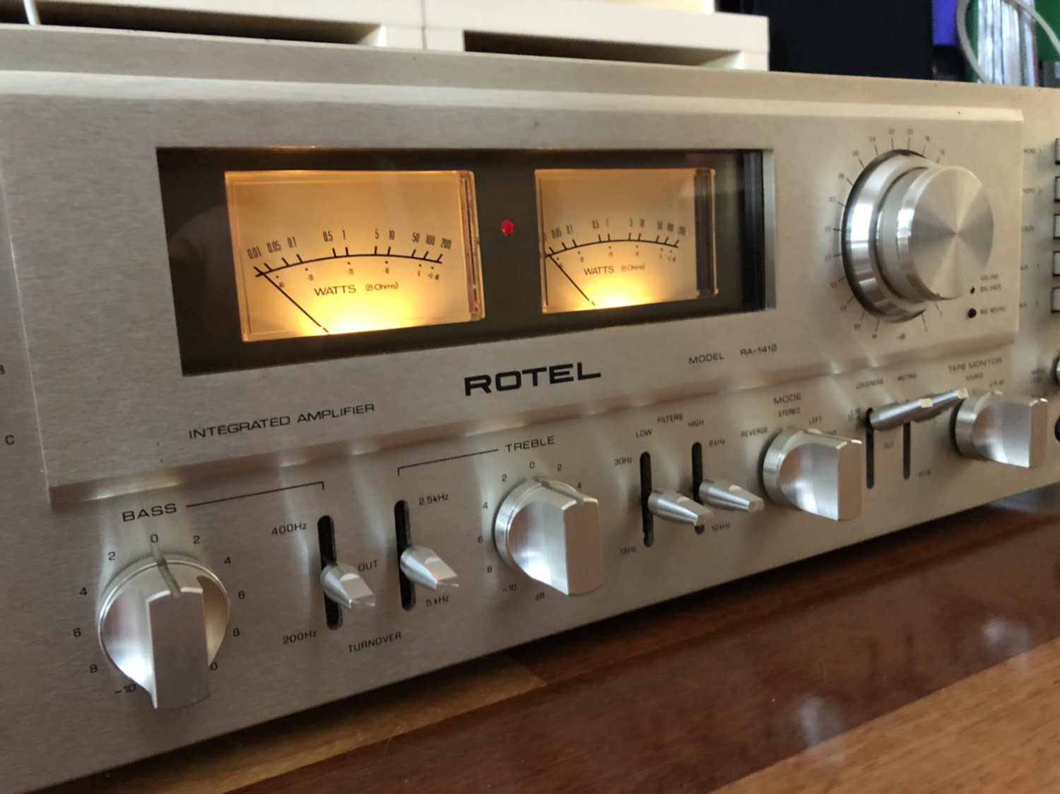 Stunning Rotel RA-1412 Amplifier Cleaned, Serviced & for Sale!
