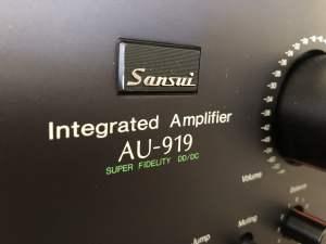 Beautiful Sansui AU-919 Amplifier Service & Review