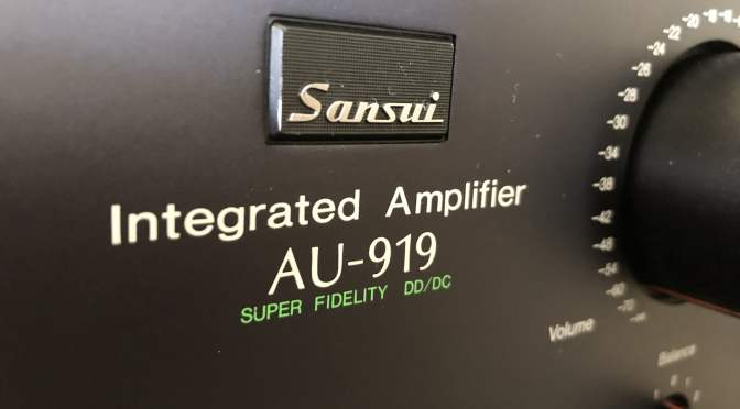 Beautiful Sansui AU-919 Amplifier Service & Review