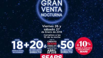84273667e Sears – Venta Nocturna Sears   Próxima Venta Nocturna este 26 y 27 de enero  de 2018…