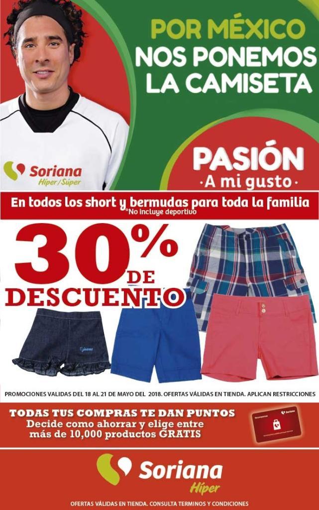 6a066d9d7 Soriana Híper y Súper - 30% de descuento en todos los shorts y bermudas  para toda la familia... - LiquidaZona