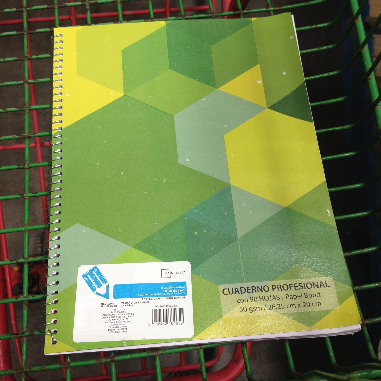 aef4558e7 $4.90 – Bodega Aurrerá – Cuaderno Profesional con 90 hojas marca MainStays  / Variedad de colores con el 70% de descuento… - LiquidaZona