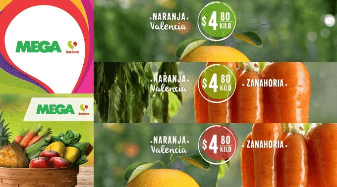 MEGA Soriana - Martes y Miércoles del Campo 15 y 16 de enero de 2019 / Naranja Valencia y Zanahoria a $4.80kg y más...
