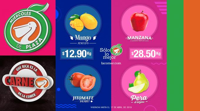 La Comer - Miércoles de Plaza 17 de abril de 2019 / Jitomate Saladet y Mango Ataúlfo a $12.90kg y más...