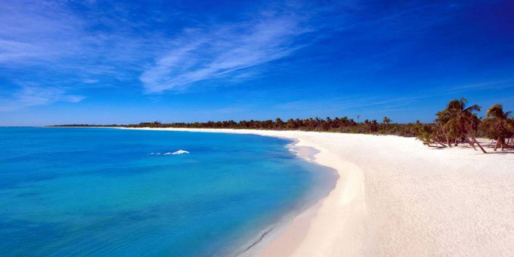 White sand beach of Cozumel