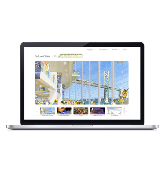 Future Cities WordPress website - Custom Gallery System - Architecture