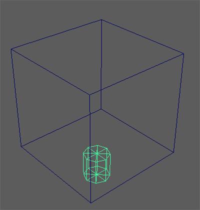型にするキューブ 「input_Cube」 と エッジする8角形のシリンダー「edge_Cylinder」