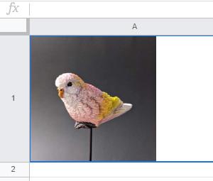 URLの入力で、スプレッドシートに画像が挿入されました