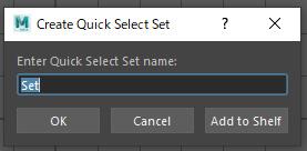 Create Quick Select Set