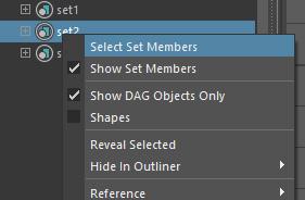 [Select Set Members]を選択