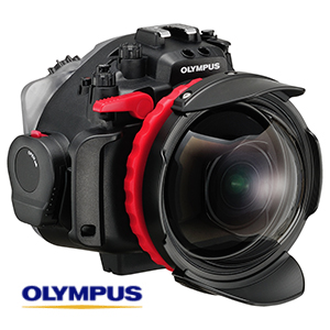 Olympus underwater housing and dome port for freediving