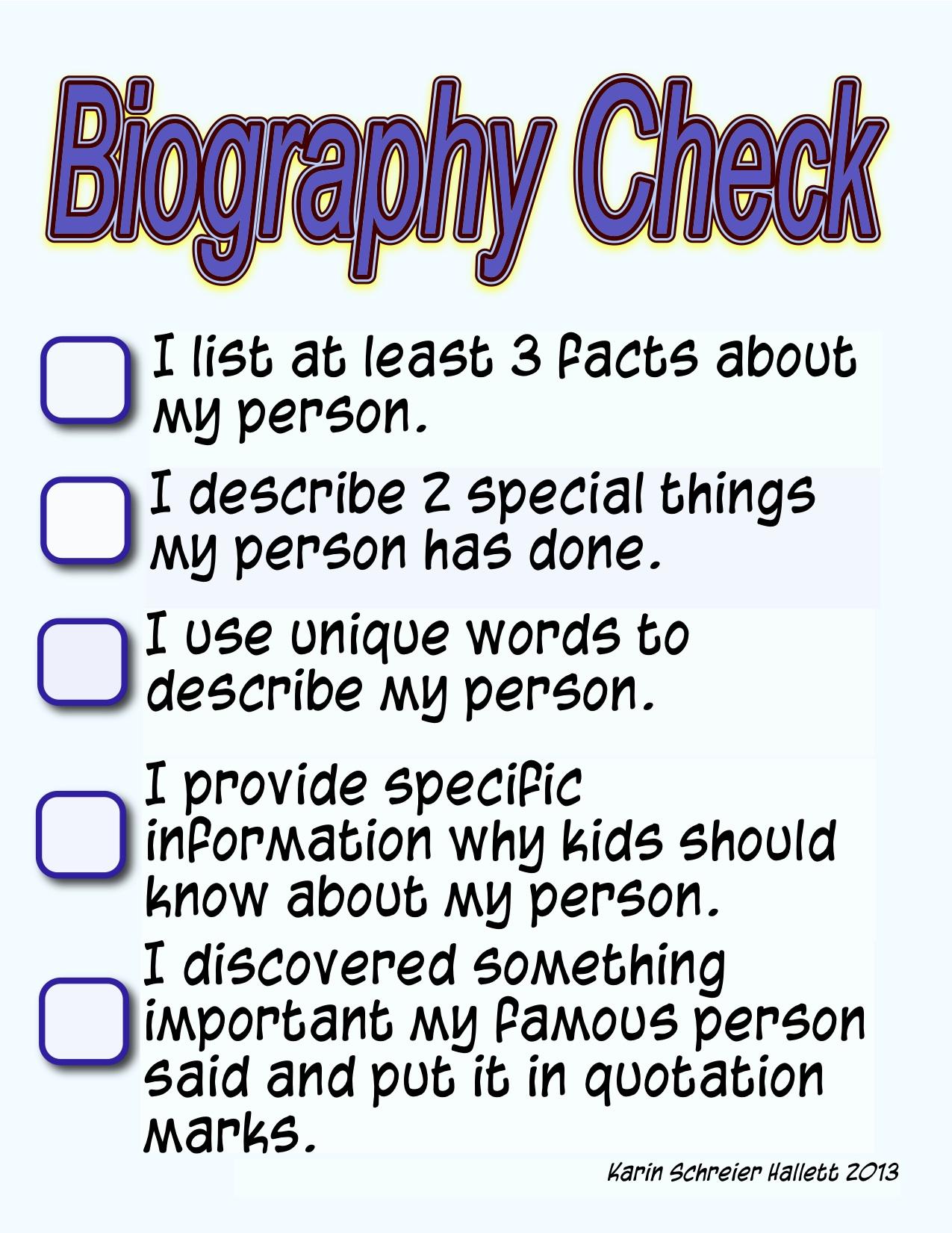 4th Grade Biography Book Report Outline