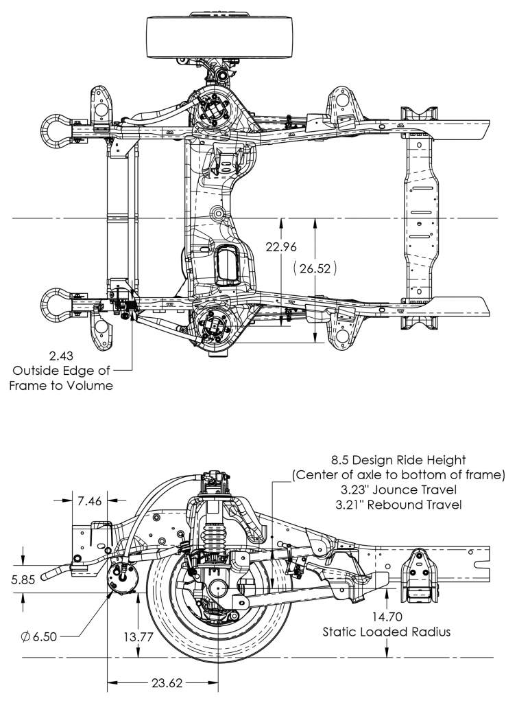 Ram 4500/5500 Front Axle Suspension System for EMS