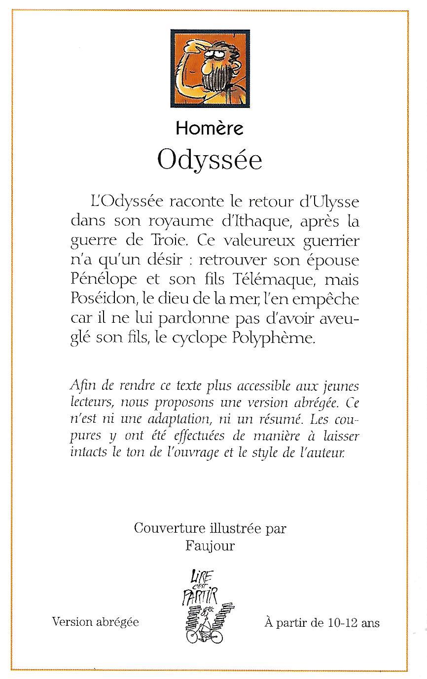 Résumé L Odyssée D Homère : résumé, odyssée, homère, L'ODYSSÉE, C'est, Partir
