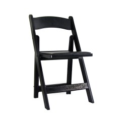 Black Padded Folding Chairs Dining Table Chair Covers Uk