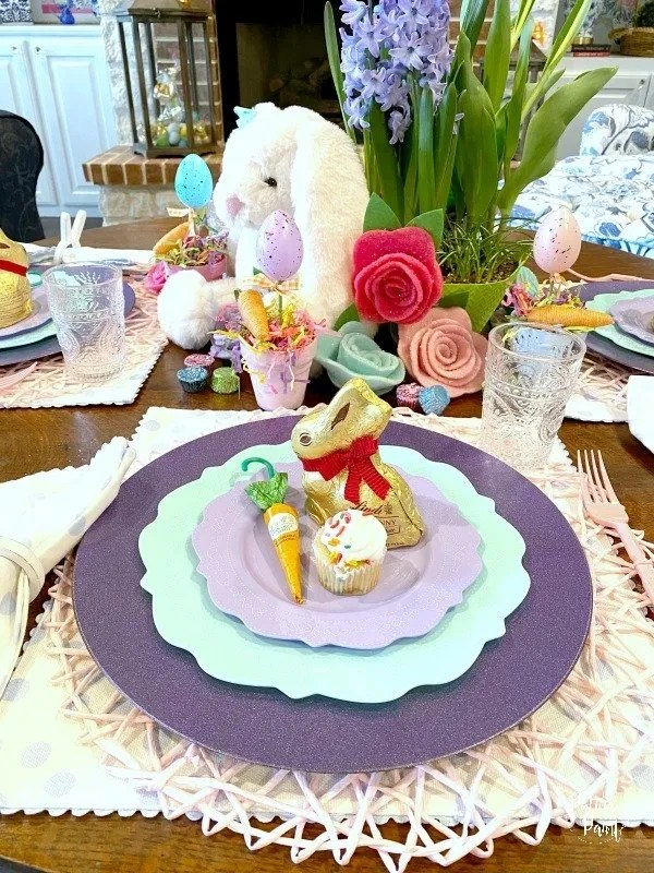 children's easter place setting