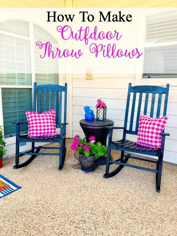 How to make outdoor throw pillows