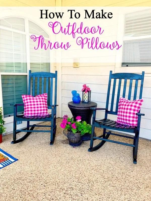 How to make outdoor throw pillows