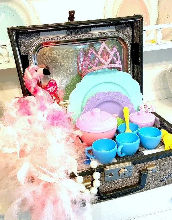 busy box dress up tea party