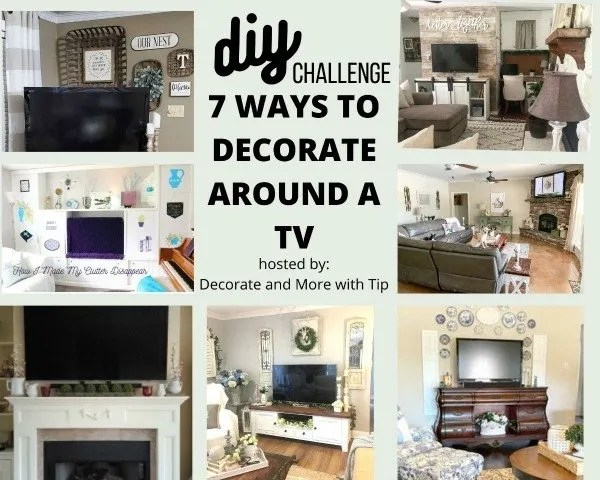 Diy Challenge 7 Ways to Decorate around a TV