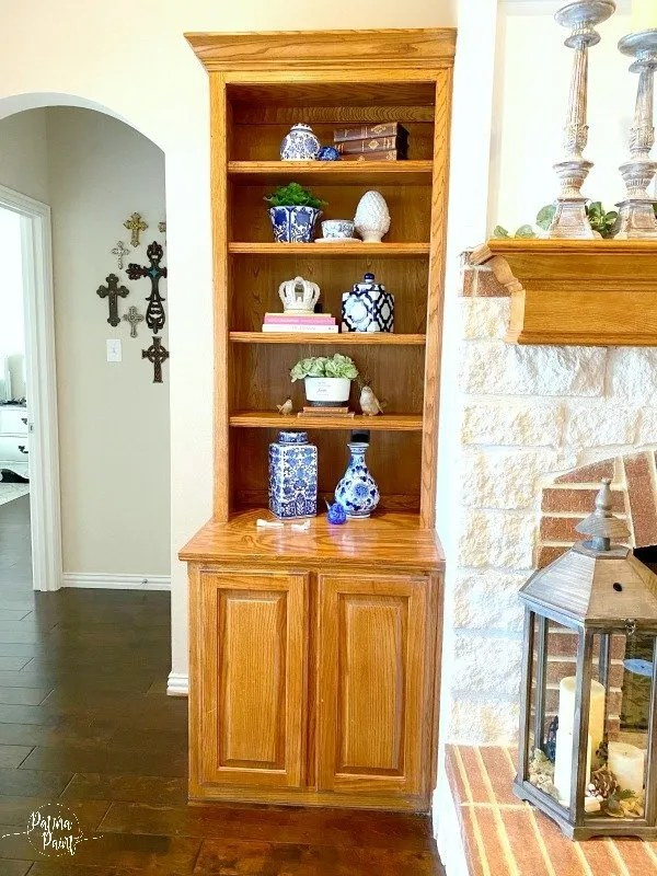 golden oak shelving