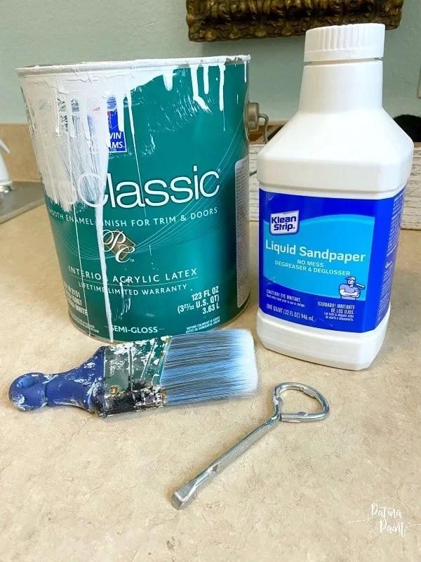 paint, paint brush, liquid sandpaper