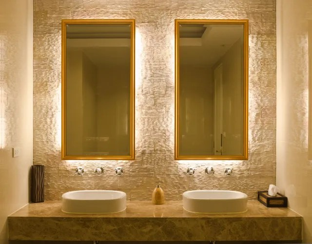 lighted bathroom mirrors are they