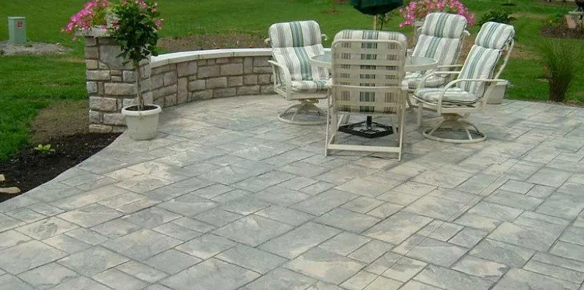 can stamped concrete save me money