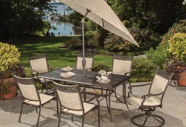 high quality aluminum patio sets