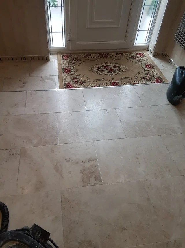 worn marble floor tiles cleaning