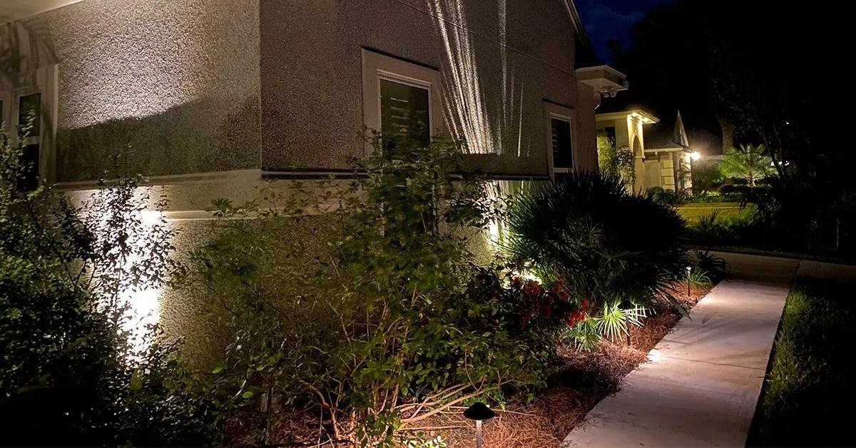 need landscape lighting installation