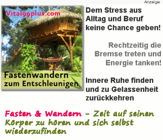 Fastenwandern - Stress- und Burn-out-Prophylaxe & Lebensprävention