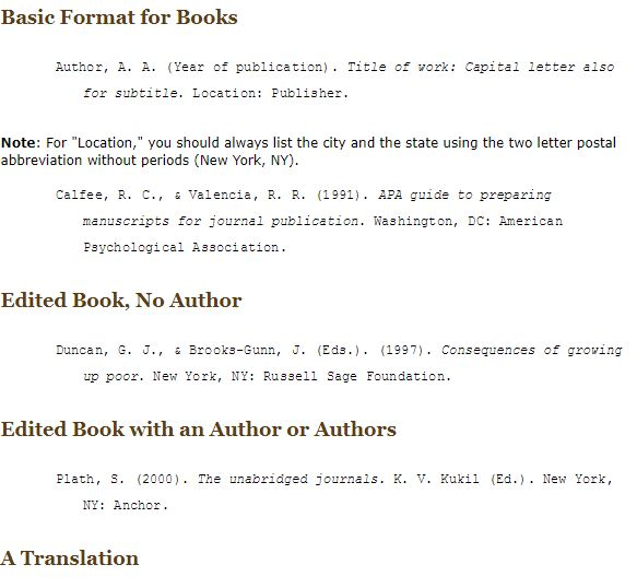 book apa format