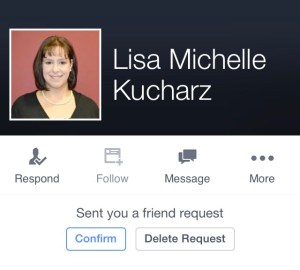 Lisa-Michelle Kucharz Impersonation Facebook Fried Request Cyberbullying Online Harassment