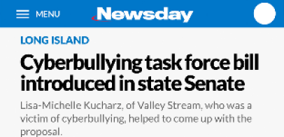 Cyberbullying task force bill introduced in State Senate (Newsday)